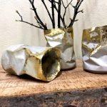 آموزش ساخت گلدان رومیزی سیمانی با وسایل بازیافتی
