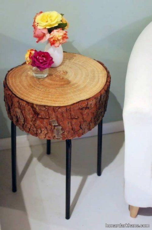 ساخت کاردستی با تنه های درخت