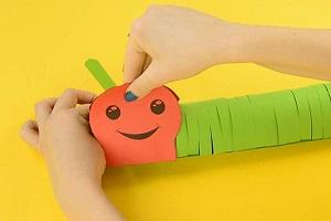 آموزش ساخت کاردستی هزارپا با الگو