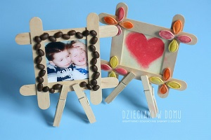 ساخت قاب عکس با چوب بستنی و دانه های خوراکی