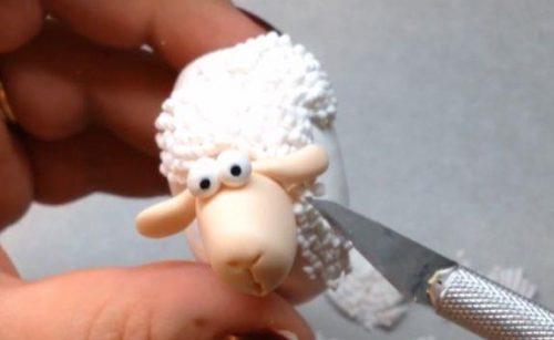 ساخت گوسفند با خمیر پلیمری