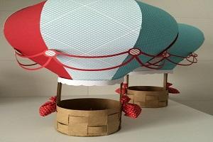 ساخت کاردستی بالن کاغذی برای اتاق کودک