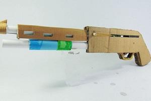 کاردستی تفنگ کاغذی با گلوله کاغذی