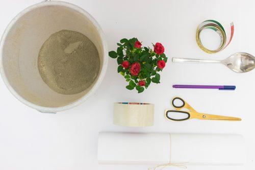 ساخت گلدان بتنی