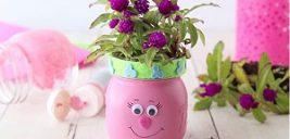 آموزش ساخت گلدان با شیشه مربا
