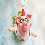 آموزش ساخت مجسمه خوک با خمیر چینی