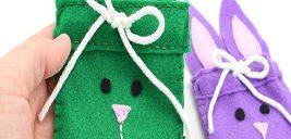 شیوه دوخت کیف نمدی خرگوشی
