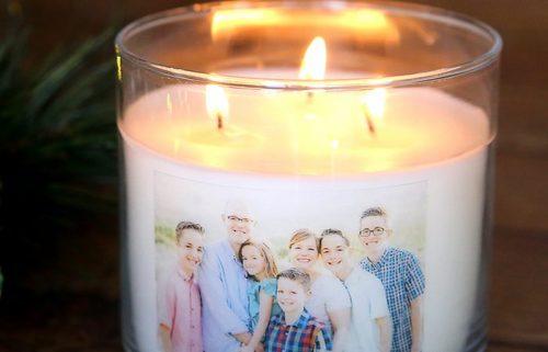 چاپ عکس روی شمع