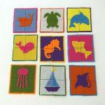 آموزش ساخت پازل نمدی رنگی برای کودکان