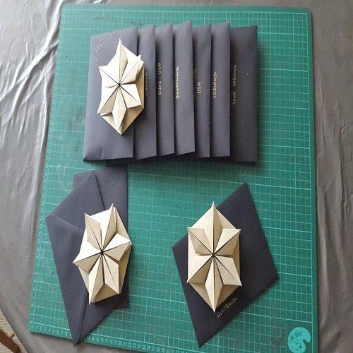 نحوه ساخت کارت پستال سه بعدی با طرح ستاره