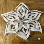 نحوه ساخت اوریگامی دانه برف حجمی