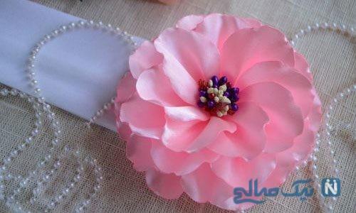 ساخت گل با روبان