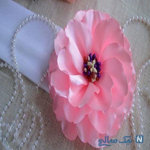 شیوه ساخت گل با روبان در منزل