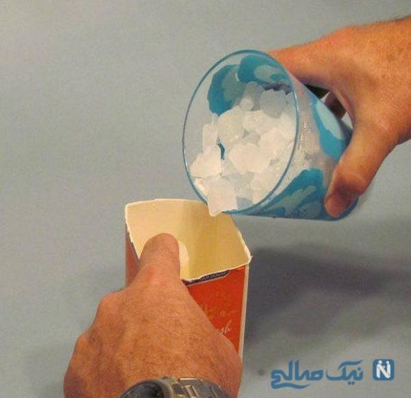ساخت شمع یخی