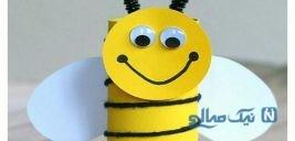آموزش ساخت کاردستی زنبور با وسایل مختلف