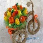 آموزش ساخت کالسکه تزیینی با گل