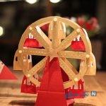 ساخت چرخ و فلک کاغذی در خانه
