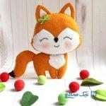 دوخت عروسک نمدی روباه زیبا