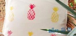 آموزش چاپ روی کوسن به شکل آناناس