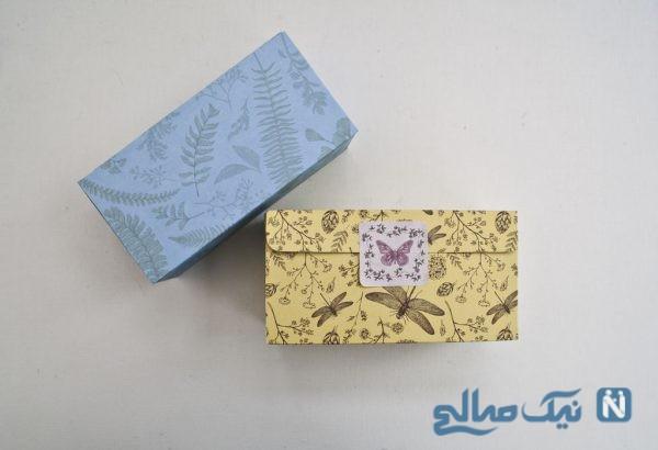 ساخت جعبه کاغذی با یک برگ کاغذ