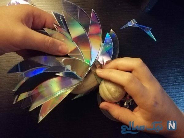 ساخت مجسمه با سی دی