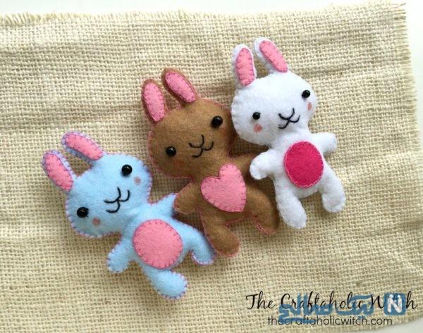 دوخت عروسک خرگوش نمدی