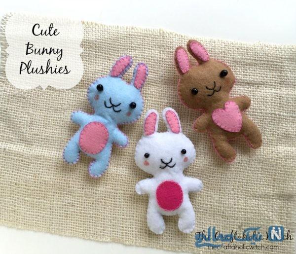 دوخت عروسک خرگوش نمدی با الگو