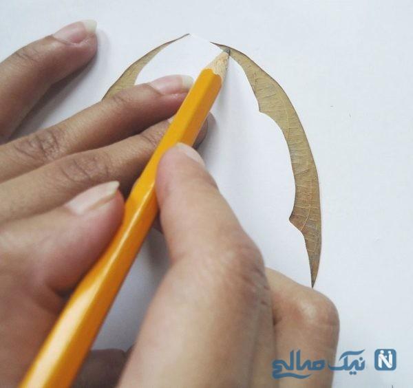 آموزش ساخت برگ تزئینی