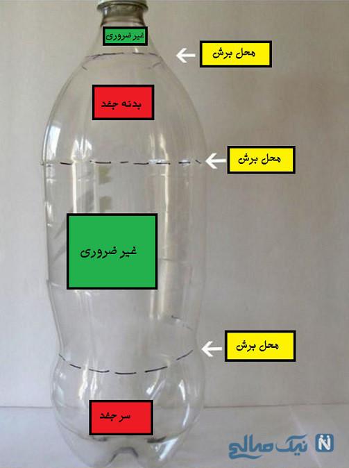 کاردستی جغد با بطری نوشابه