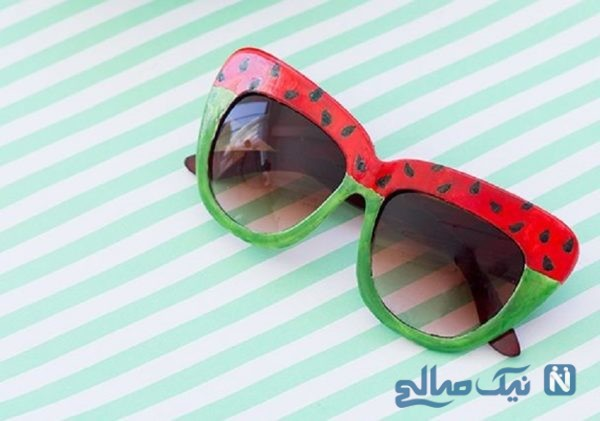 آموزش ساخت عینک آفتابی هندوانه ای
