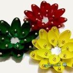 آموزش ساخت جاشمعی با قاشق پلاستیکی