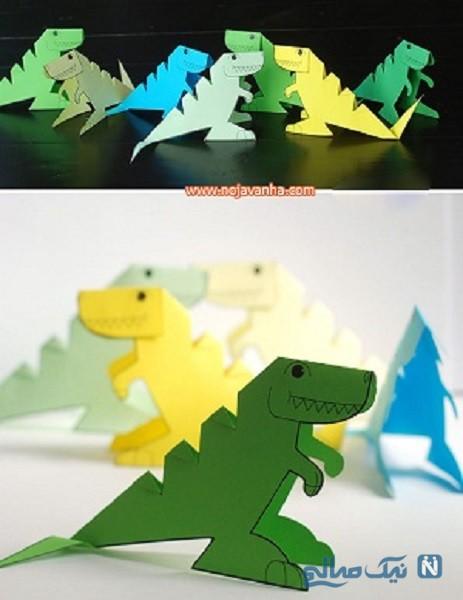 ساخت کاردستی دایناسور