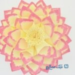 آموزش ساخت گل کاغذی بزرگ