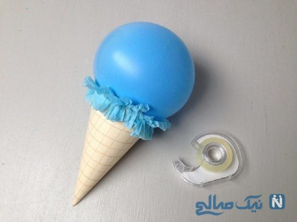 ساخت کاردستی بستنی
