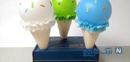 ساخت کاردستی بستنی با بادکنک