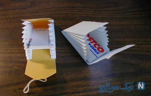 کاردستی کیف پول کاغذی