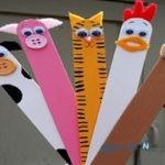 با چوب بستنی حیوانات مزرعه را برای کودکان خلاق خود بسازید+تصاویر