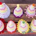 ساخت کاردستی کلاه تولد با طرح رنگین کمان + تصاویر