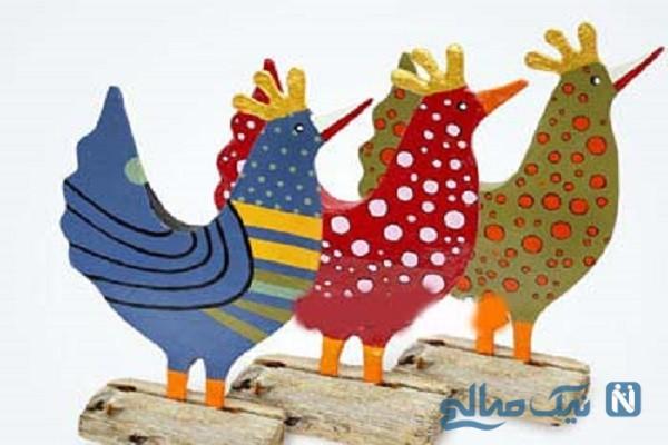 آموزش ساخت عروسک مرغ بسیار ساده فقط با مقوا+تصاویر