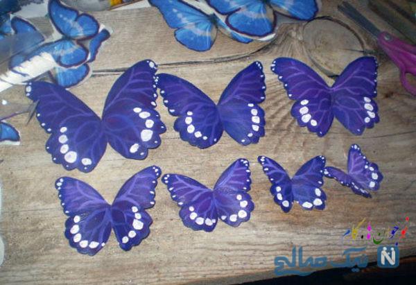 کاردستی پروانه های تزیینی