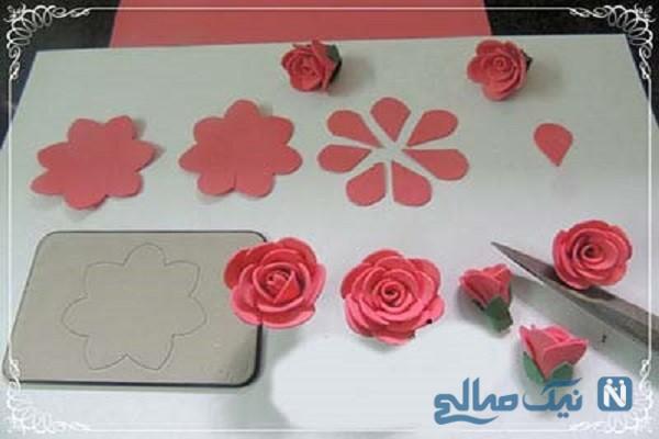 به راحتی یک دسته گل رز درست کنید/آموزش ساخت گل رز+تصاویر