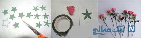 آموزش ساخت گل رز با فوم