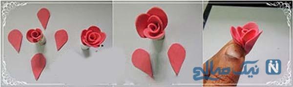 آموزش ساخت گل رز فوم