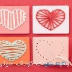 ساخت کاردستی کارت تبریک تولد قلبی با کاموا + عکس
