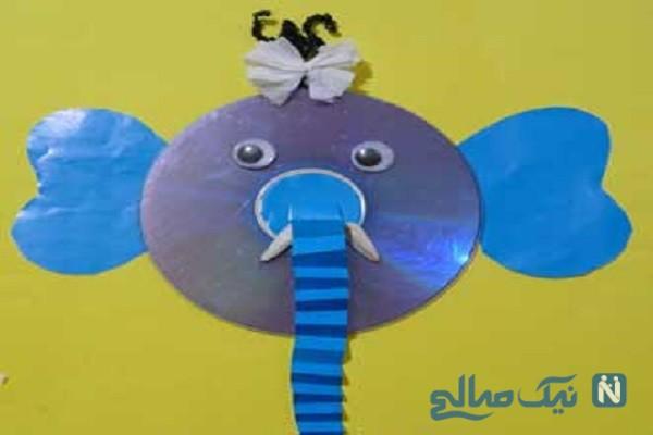 آموزش ساخت کاردستی فیل بسیار جالب با وسایل دورریختنی+تصاویر