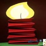 کاردستی شمع کاغذی با ساده ترین مواد اولیه در دسترس+ تصاویر