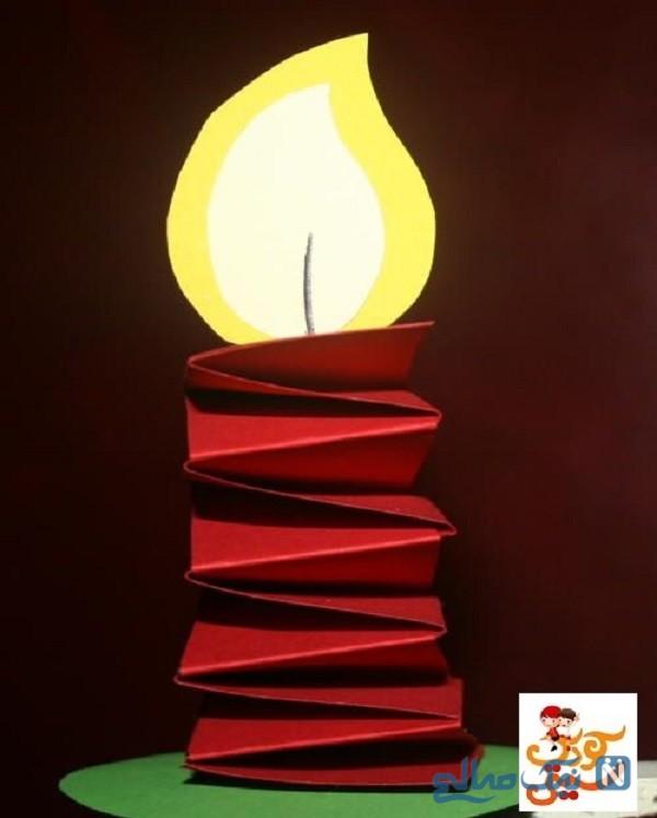 کاردستی شمع کاغذی
