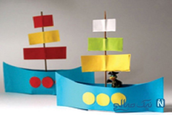 ساخت کاردستی قایق کاغذی + تصاویر
