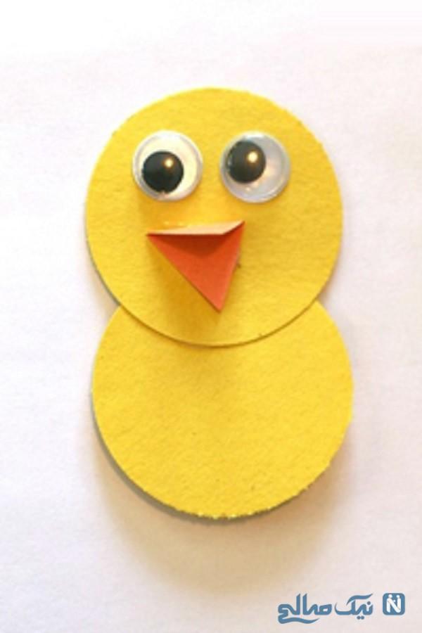 ساخت پرنده با کاغذ رنگی