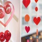 کاردستی آویز قلب های کاغذی خیلی زیبا +تصاویر